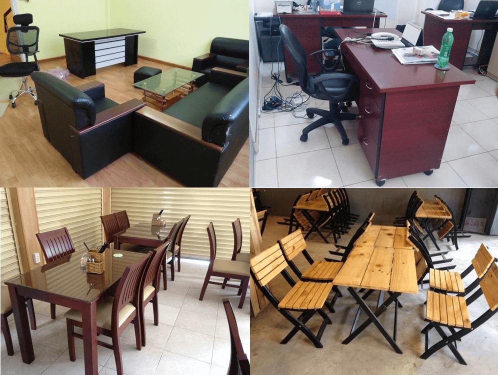 bàn ghế cũ giá rẻ tại TPHCM