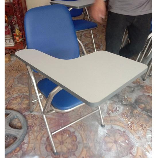 Ghế xếp liền bàn cũ chân inox lưng cao