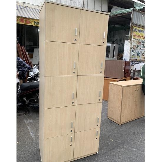 tủ locker gỗ 10 ngăn thanh lý giá rẻ