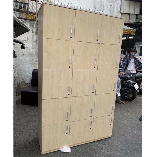 tủ locker gỗ 15 ngăn thanh lý giá rẻ