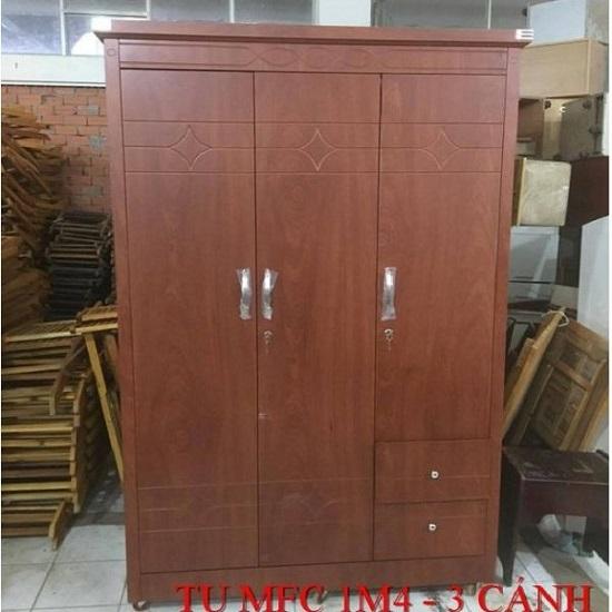 tủ quần áo 3 cánh MDF hàng cao cấp giá rẻ