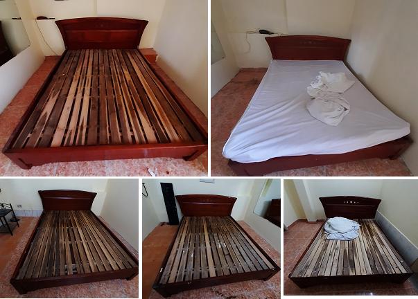 giường cũ 1m6 gỗ xoan đào chất lượng như mới 95%